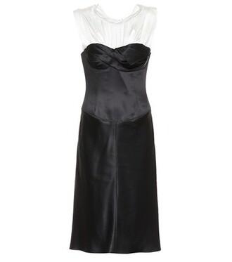 dress satin dress satin black