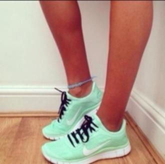 shoes nike running shoes running shoes running teal mint green shoes mint legs ankle bracelet