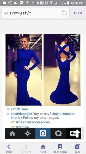 dress blue royal blue dress blue dress bodycon dress cut-out dress formal dress formal event outfit prom dress prom