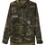 ROMWE | ROMWE Asymmetric Embroidered Pocketed Camouflage Coat, The Latest Street Fashion