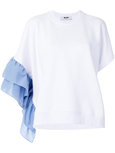 MSGM top women white cotton