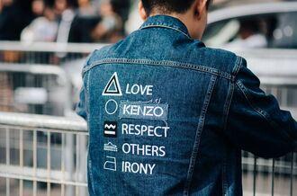 jacket fashion week street style fashion week 2016 fashion week paris fashion week 2016 blue jacket denim jacket embroidered jacket embroidered menswear streetwear streetstyle