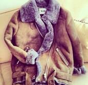 manteau,acne studios,col fourrure,coat,fourrure,burgundy,marron,grey,gris,winter coat,winter outfits,autumn/winter,cute cute cute cute,beautiful coat,fashion,shearling jacket