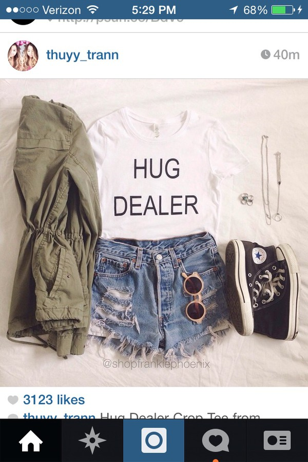 t-shirt white shirt hug dealer jacket