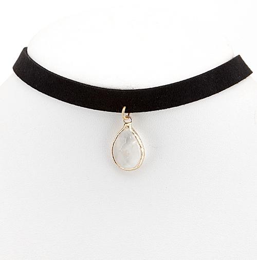 Stevie Teardrop Pendant Choker Necklace