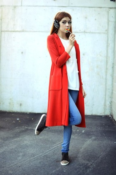 jacket coat red red coat ebba zingmark trench coat long trench coat red jacket