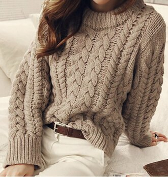 sweater casual fashion style warm cozy winter outfits long sleeves knitwear