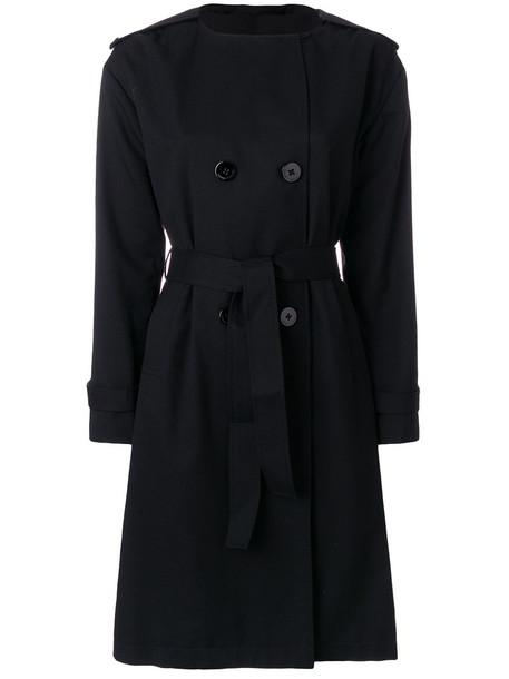 Emporio Armani coat trench coat women black wool