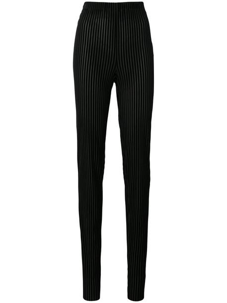 VIONNET women spandex black velvet pants