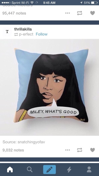 home accessory pillow nicki minaj dope quote on it pillow