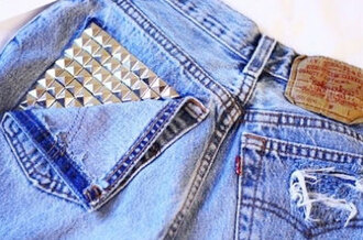 shorts high waisted shorts denim vintage levis studded shorts