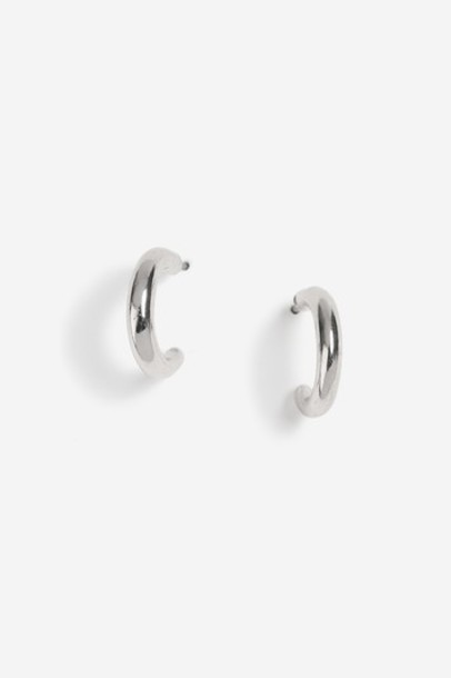 mini metal earrings hoop earrings silver jewels