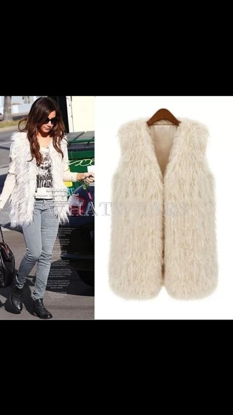 jacket plus size vests vest faux fur faux fur vest