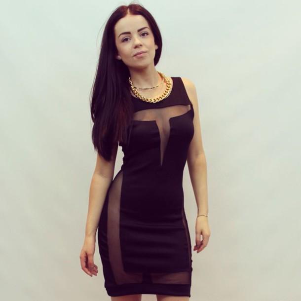 dress black brave sexy