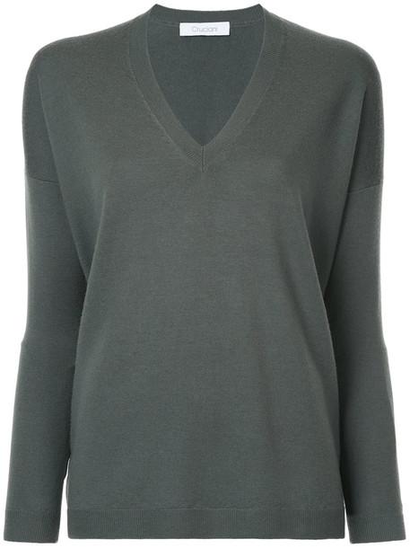 sweater women wool knit green