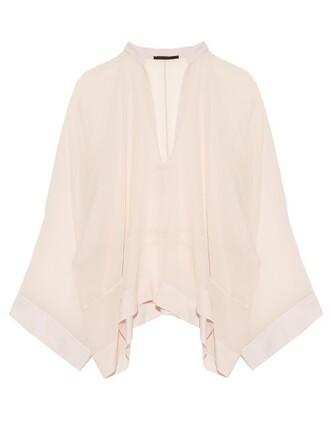 blouse chiffon blouse chiffon silk light pink light pink top