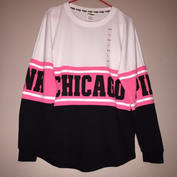 Sweater: chicago, pink, victoria's secret, vs, pink by victorias ...