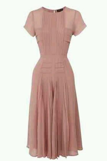 dress pink pleated dress