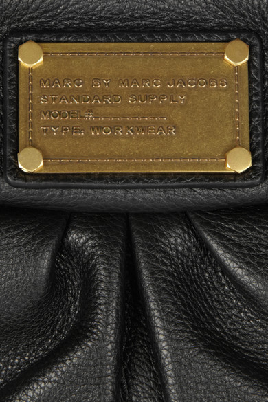 Marc by Marc Jacobs | The Classic Q Hillier Hobo textured-leather shoulder bag | NET-A-PORTER.COM