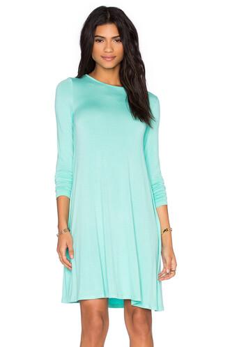 dress swing dress long mint