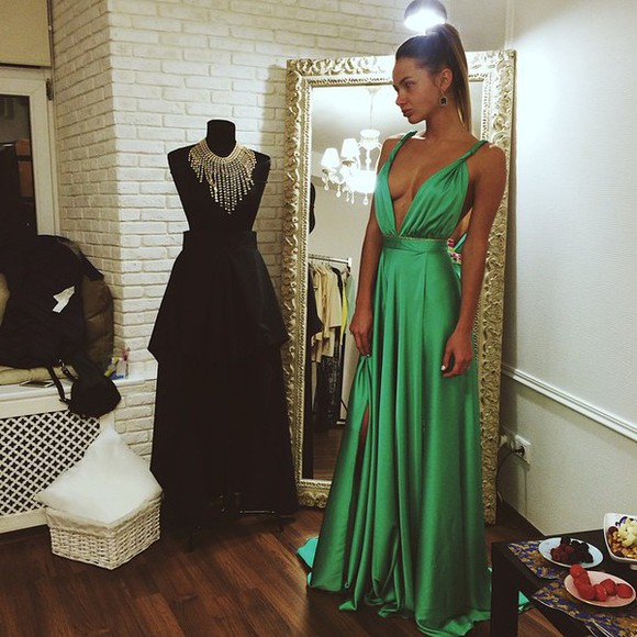 prom dress green dress long dress