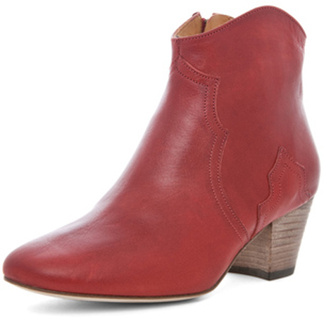 Lady heels isabel marant dicker red leather ankle boots [lady isabel marant boots]