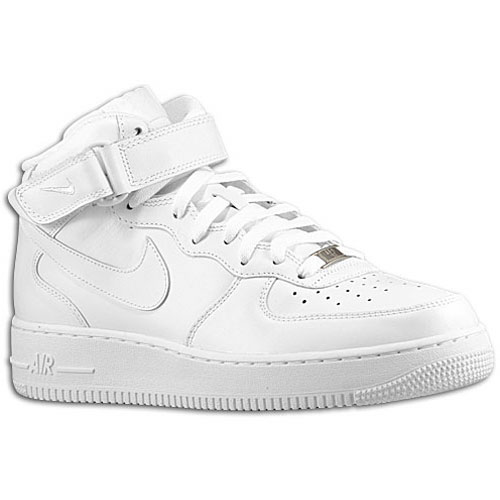 Nike Air Force 1 Mid - Men's - Basketball - Shoes - White/White