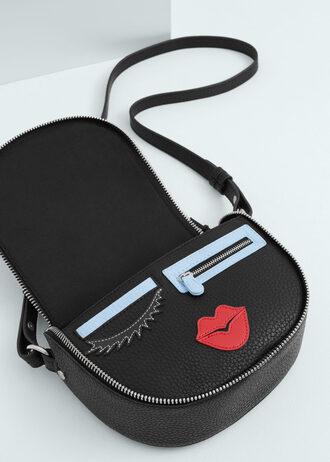 bag crossbody bag mini bag lips