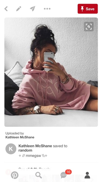 sweater pink cute oversized trendy