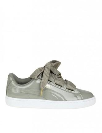 sneakers. heart sneakers grey shoes