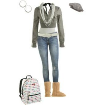 jacket ugg boots gray jacket