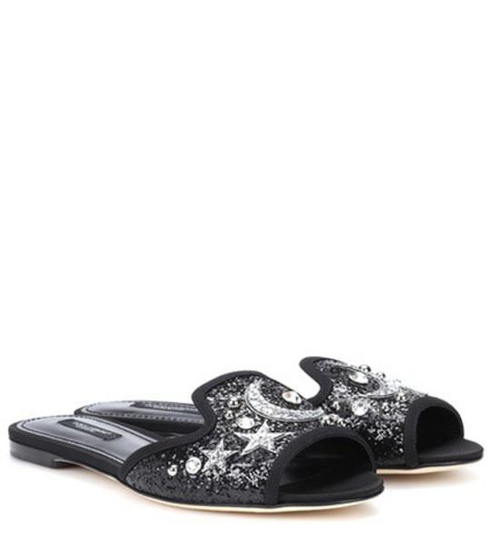 Dolce & Gabbana embellished black shoes