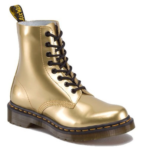 DrMartens shoes gold
