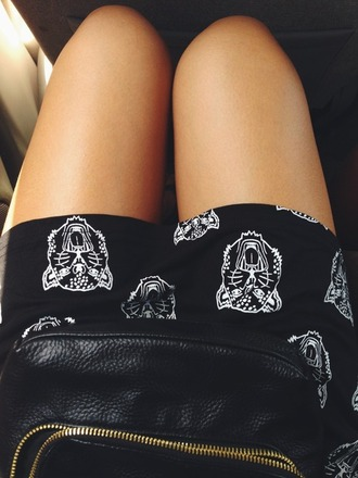 skirt leopard tigers tiger face animal wild print short cool indie shorts