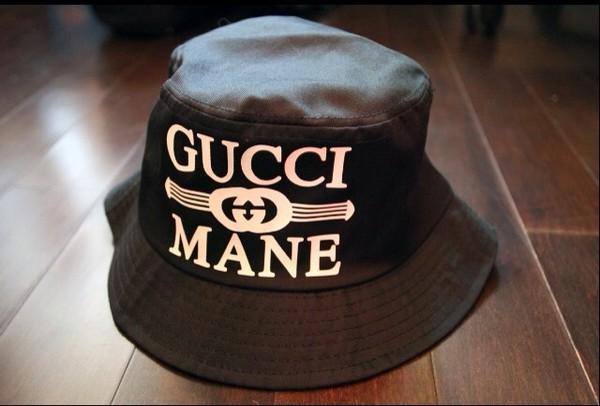 bucket hat black hat gucci mane hat