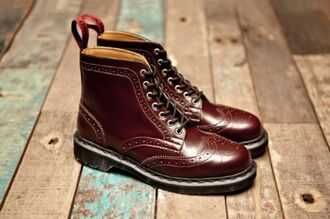 shoes boots lace ups oxfords cherry drmartens combat boots burgundy cher lloyd