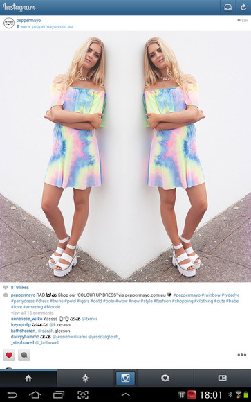tie dye holographic platform shoes shoes