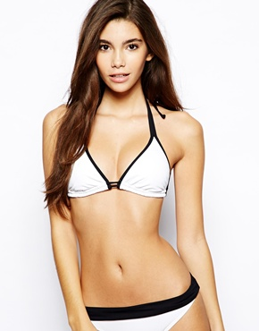 Caprice | By Caprice Triangle Bikini Top With Contrast Trim at ASOS