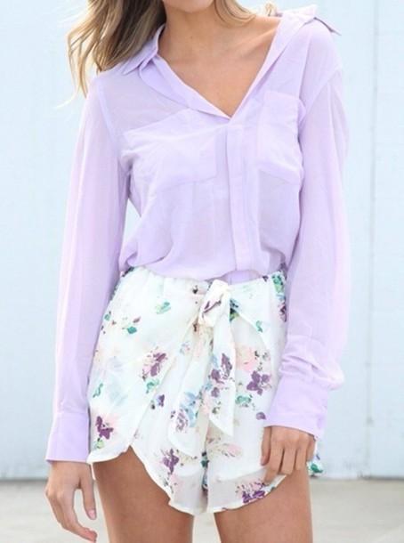 blouse shorts shirt