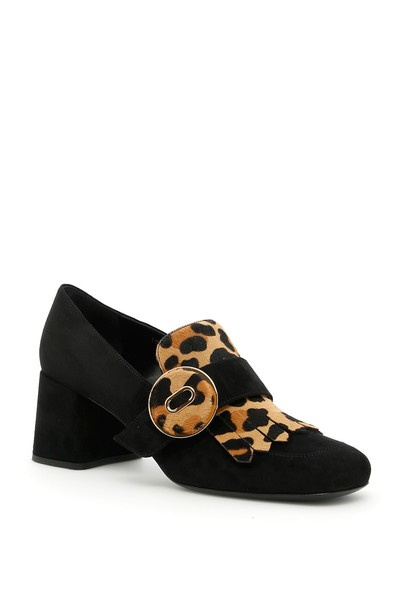 loafers print suede leopard print shoes