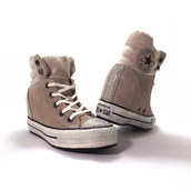 converse,swarovski,wedges,platform sneakers,swag,style,baige,shoes,custom,crystalised nike free runs,crystalized,girl,suede,trainers,boots,wedge sneakers
