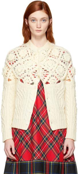 Tricot Comme Des Garçons cardigan cardigan white crochet off-white sweater