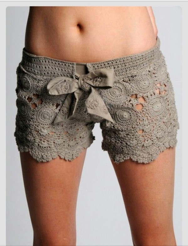 shorts beige short lace shorts lace chrochet lace