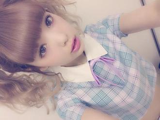 shirt kawaii kawaii grunge bow pastel pale soft grunge plaid shirt pastel raindrops japanese fashion peter pan collar kawaii girl crop tops