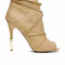 Peep toe wrap around heel - camel