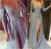 dress,off the shoulder prom dress,long sleeves prom dress,tulle skirt,appliques,beauty0516,sexy prom dress,long sleeve prom dress,tulle prom dress