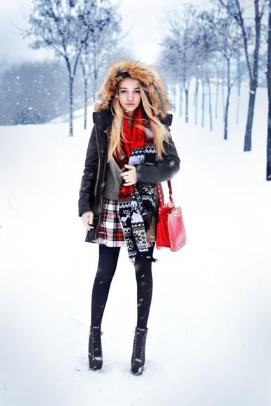 winter outfits scarf tights ukraine aksinya air skirt
