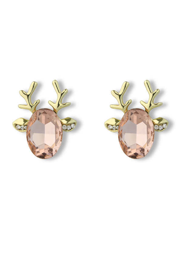 jewels deer beaded earrings