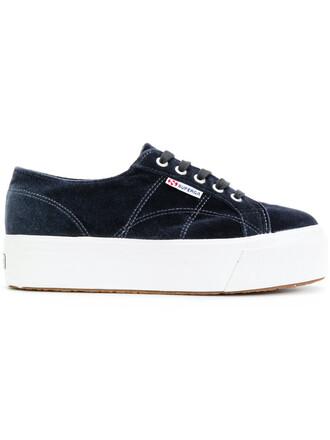women sneakers blue velvet shoes