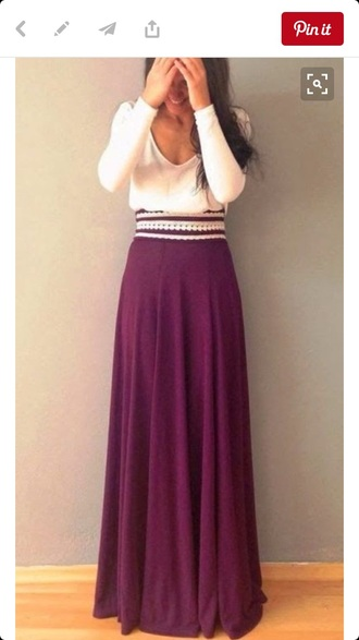 skirt white lace purple maxi skirt purple maxi skirt